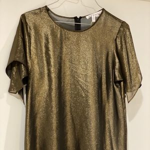 Bcbg gold party top